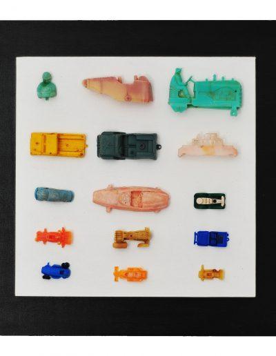 Cars cm 40 x 40 Plastica dal Mare 2012