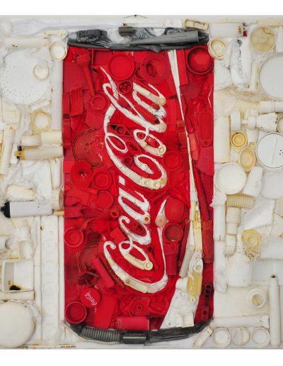 Coca Cola cm 50 x 50 Plastica dal Mare 2011