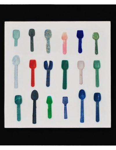 Cucchiaini gelato,cm 40X40 Plastica dal Mare 2012)