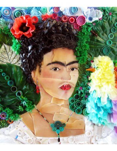 Frida 90 x 90 cm Plastica dal Mare 2014