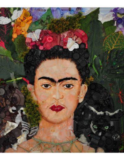 Frida cm 100 x 100 Plastica dal Mare 2012