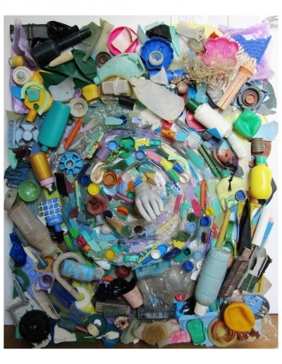 Il Vortice cm 80 x 100 Plastica dal Mare 2008