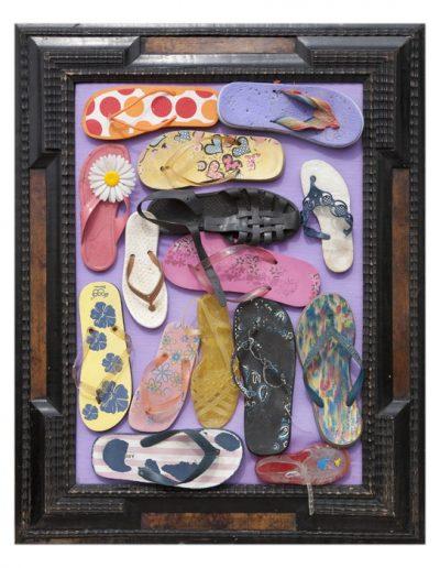 Illegal Imigration cm 100 x 80 Plastica dal Mare 2010