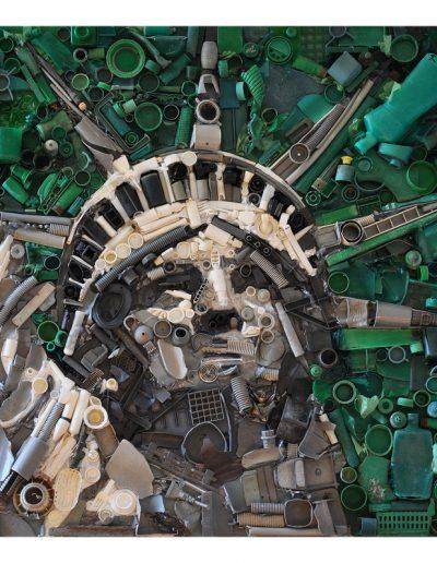 La Libertà è Partecipazione cm 100 x 100 Plastica dal Mare 2011