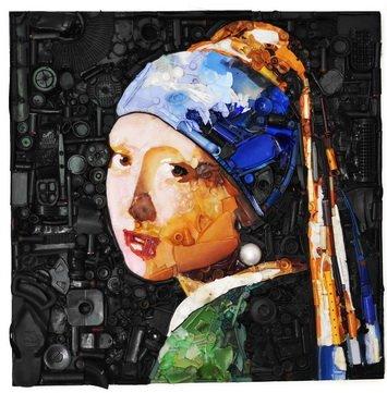 Vermeer cm 100 x 100 Plastica dal Mare 2014