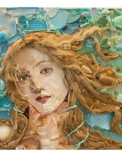 La Venere cm100 x 100 Plastica dal Mare 2012
