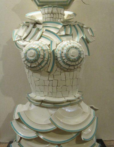 Margherita cm 100 x 25 Recupero ceramica 20016