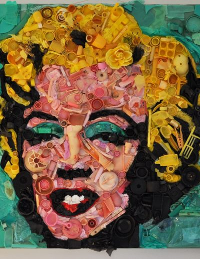 Marilyn cm 100 x 100 Plastica del Mare 2010