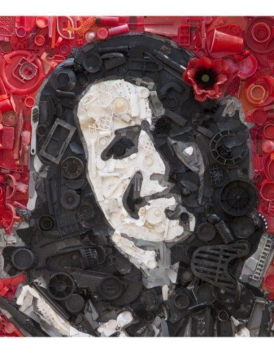 Patrizia cm 100 x 100 Plastica dal Mare 2009