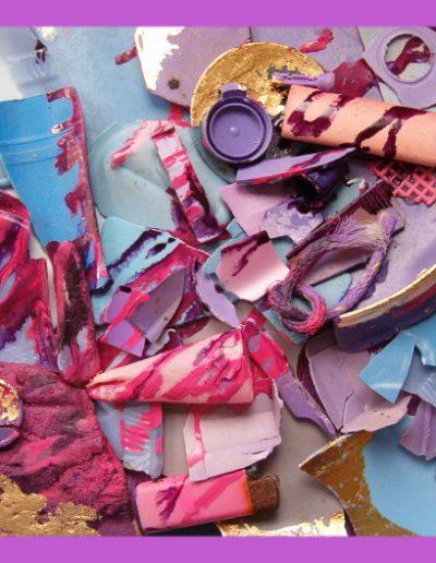 Senza Titolo cm 40 x40 Plastica dal Mare 2007