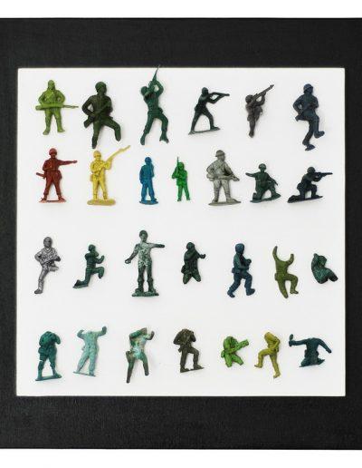 Soldiers cm 40 X 40 Plastica dal Mare 2012