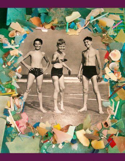 Tutti al Mare cm 40 x 40 Plastica dal Mare 2007