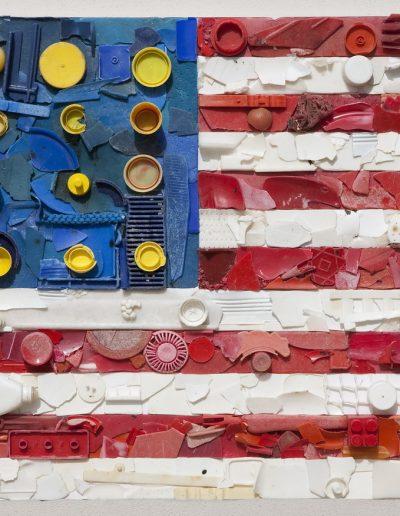 U.S.A. e Getta cm 100 x 70 Plastica dal Mare 2009