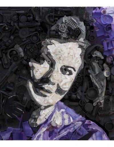 Un'Amica cm 100 x 100 Plastica dal Mare 2009